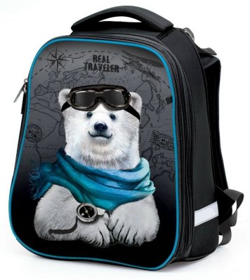 Школьный ранец HATBER Ergonomic BEAR TRAVEL